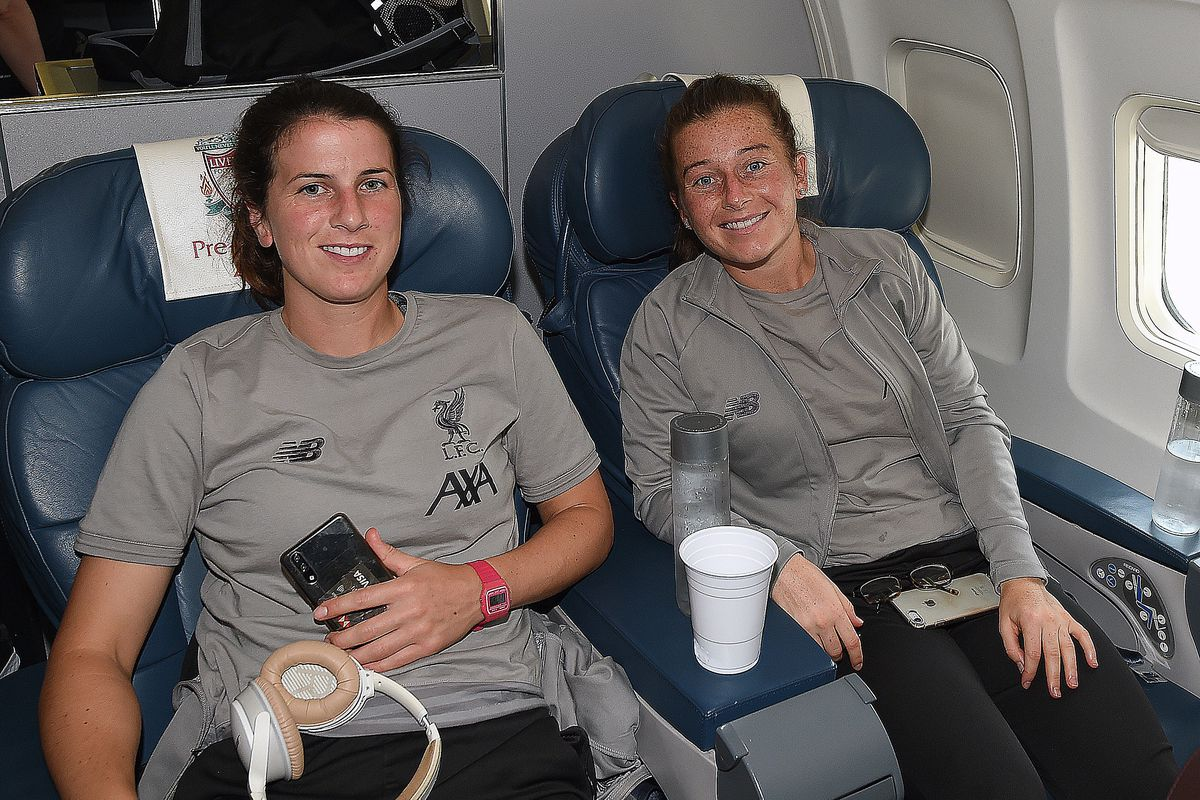 Liverpool Football Club Women Arrive In Boston