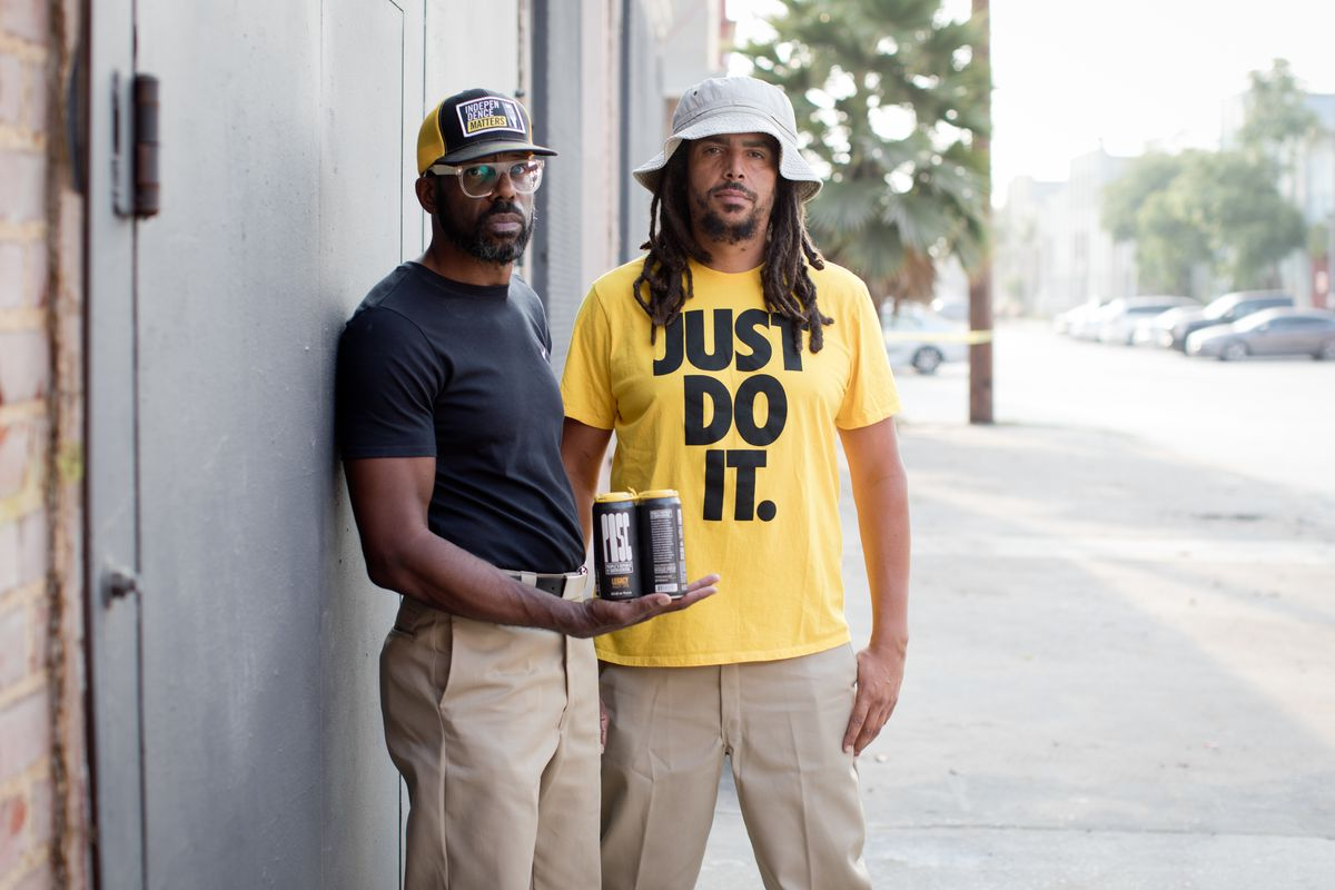 South Los Angeles Beverage Company founders Craig Bowers and Samuel Chawinga