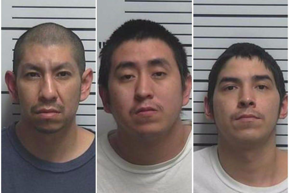 Larson Rondeau, 37; Randall Flatlip, 27; and Jerry Flatlip, 30.