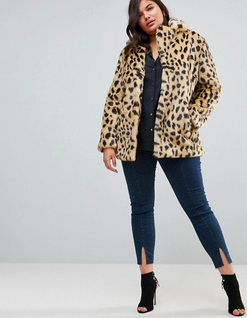 ASOS Faux Fur Leopard Coat, $119