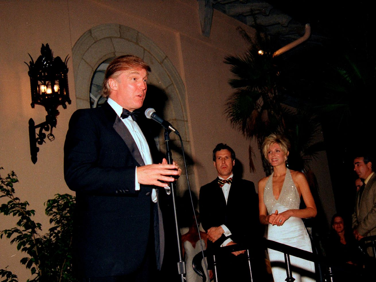 Donald Trump at the Mar-a-Lago Club in 1995, around the time E. Jean Carroll says he sexually assaulted her.