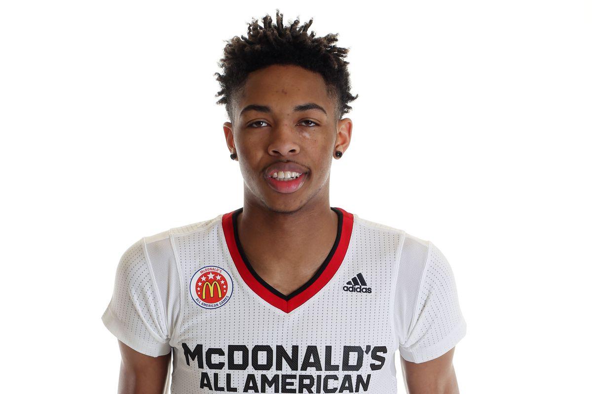 Brandon Ingram poses at the McDonald's game.