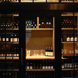 Bill Summerville's wine closet