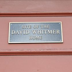 David Whitmer, one of the Three Witnesses of the Book of Mormon, became disaffected from The Church of Jesus Christ of Latter-day Saints while living in Missouri in 1838. He subsequently moved to Richmond, Ray County, Mo., and spent a half century there until his passing in 1888.