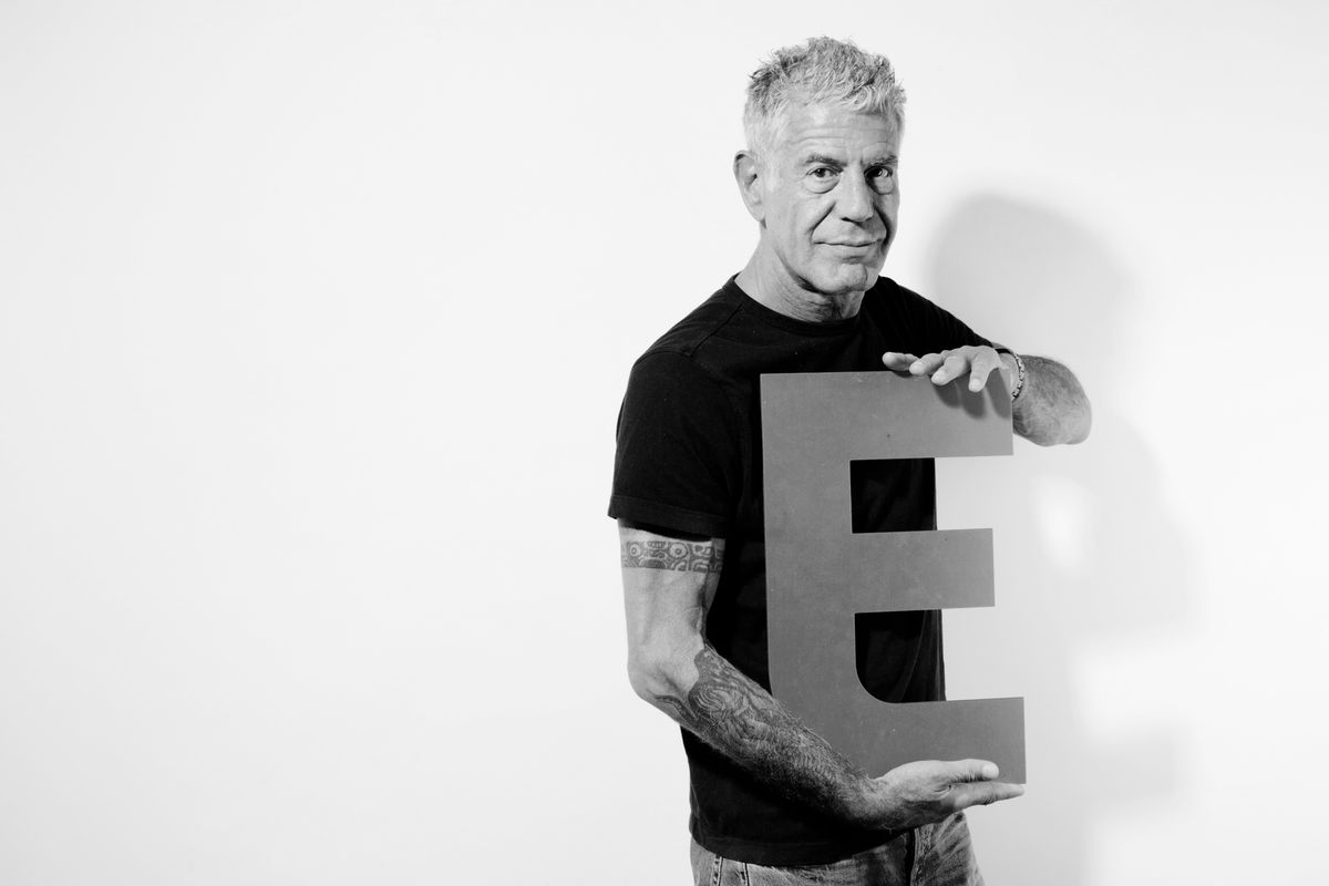 Anthony Bourdain in the Eater Upsell Studios