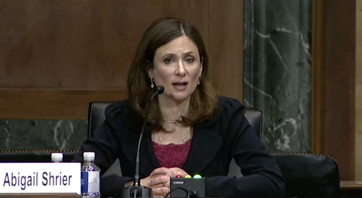 Author Abigail Shrier testified on Capitol Hill.