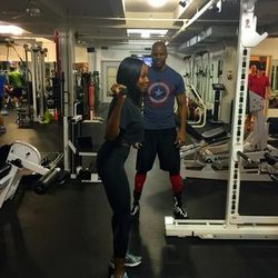 I work out at Peak Performance with my trainer, Ngo Okafor, two to three times a week. He's incredible. He has a way of kicking my butt and pushing me to the fullest without being overly aggressive. But after 60 minutes of his workout, I'm ready to pass o