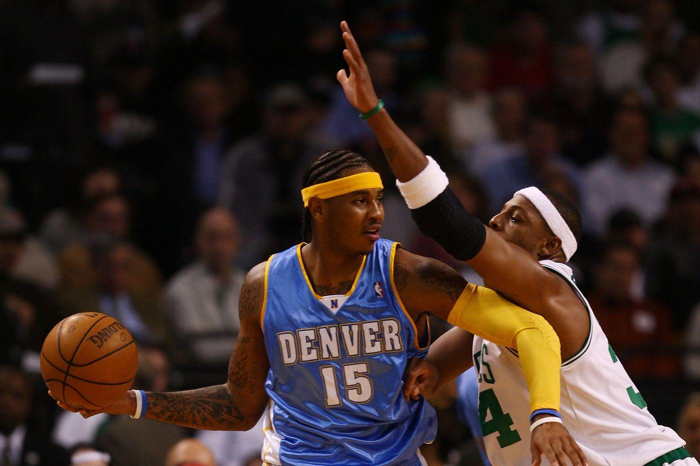 The Carmelo Anthony Paul Pierce parison Denver Stiffs