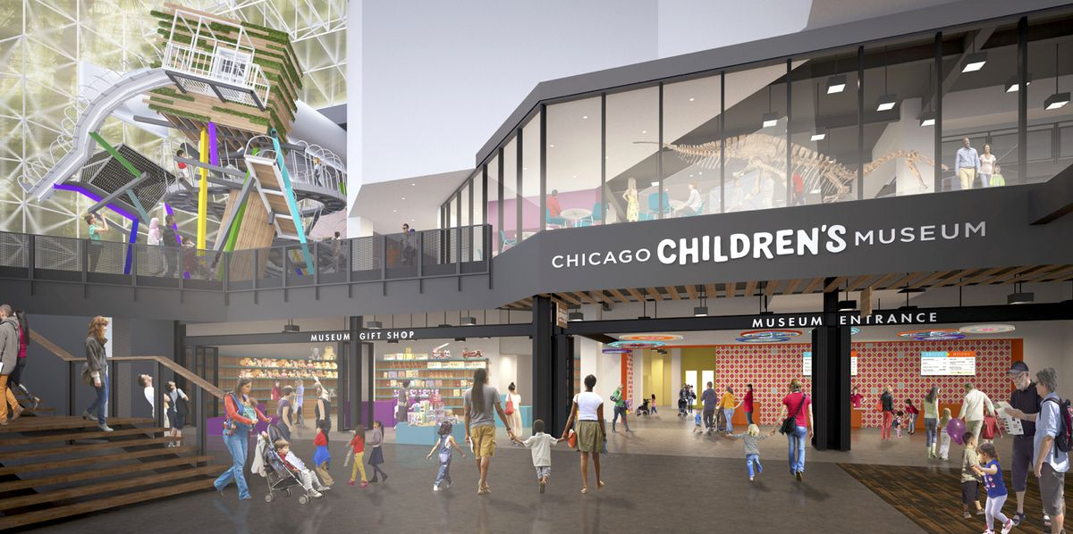 Chicago Children S Museum Gets Redesign New Climbing Wall