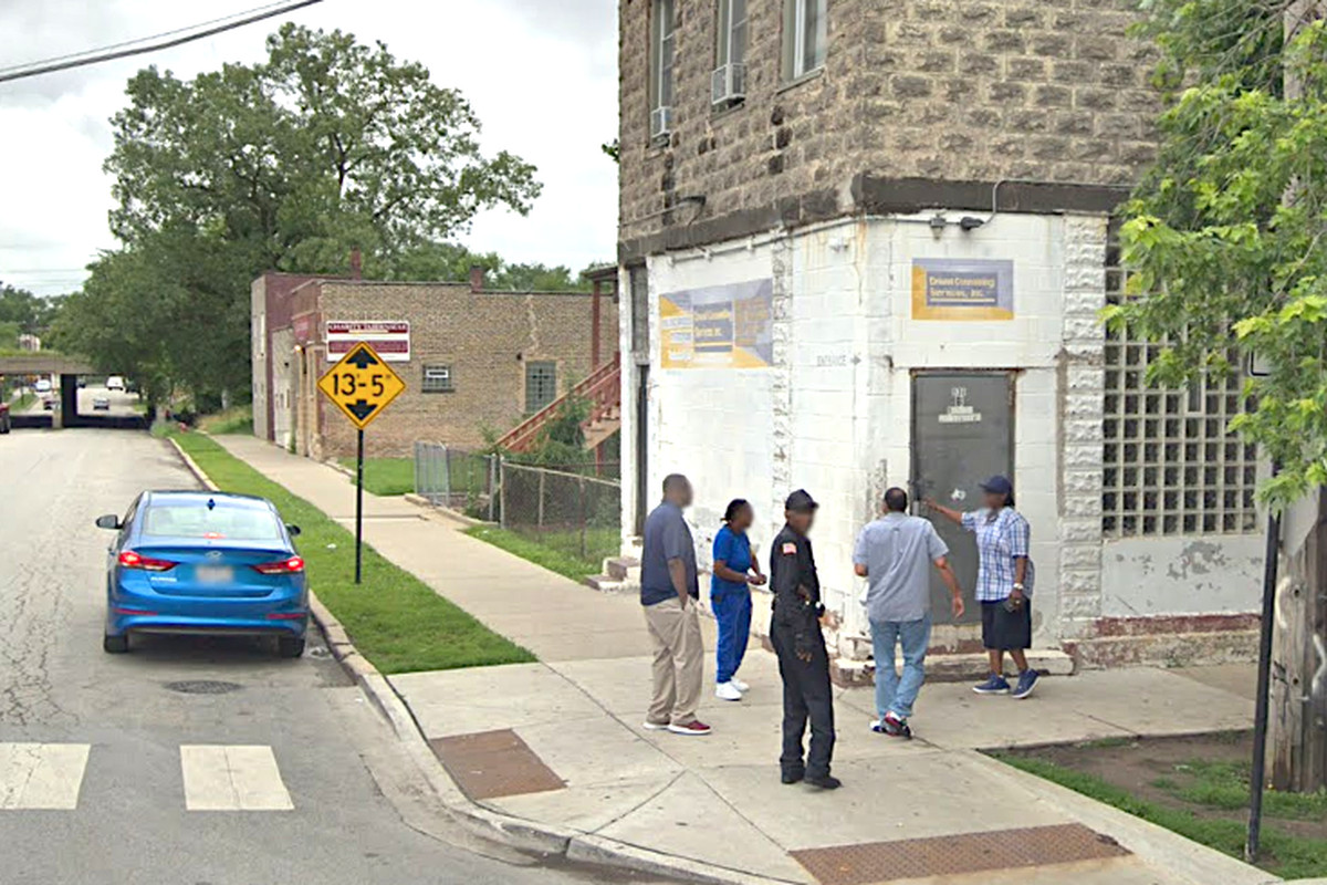 Police were investigating a shooting that wounded three people outside a methadone clinic in the 900 block of East 93rd Street on July 30, 2019.