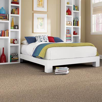 Sustainable bedroom carpet material.