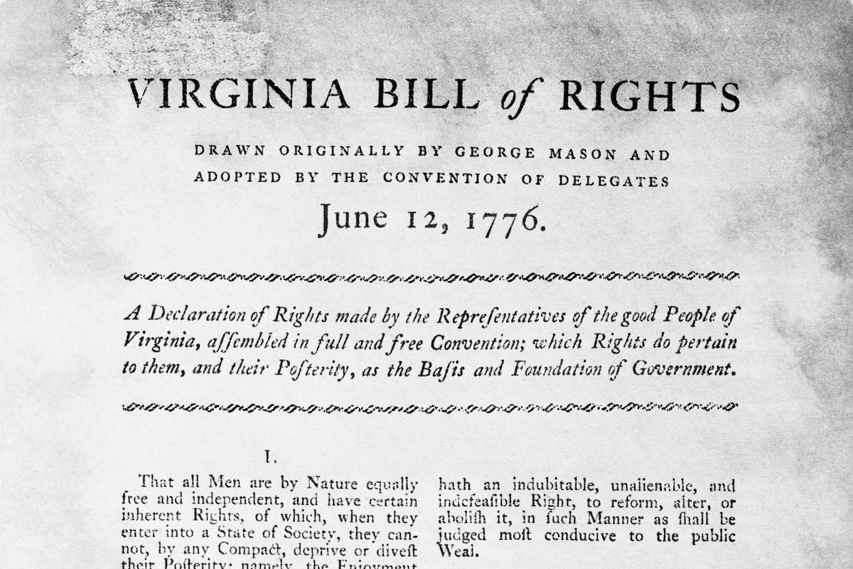 Bill of Rights of the State of Virginia