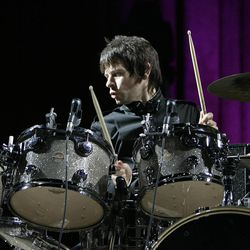The legendary rock group, The Who, with Zak Starkey, son of Ringo Starr on drums, performs at the TD BankNorth Gardern in Boston, Saturday, Sept. 16,2006. (AP Photo/Robert E. Klein)