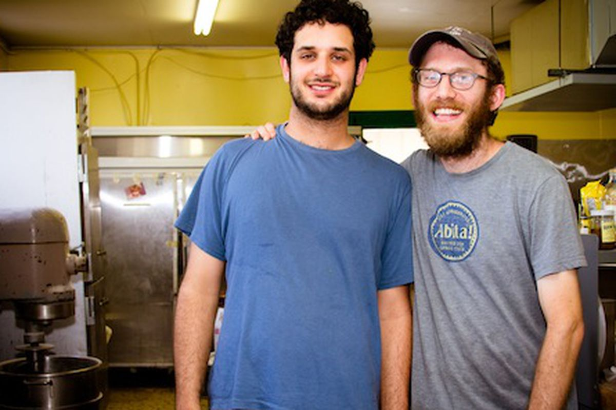 Greg Augarten and Michael Friedman in the Delicious kitchen.