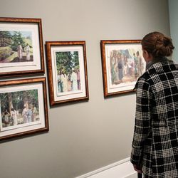 Brooke Facer explores the Harry Anderson exhibit at the Church History Museum.