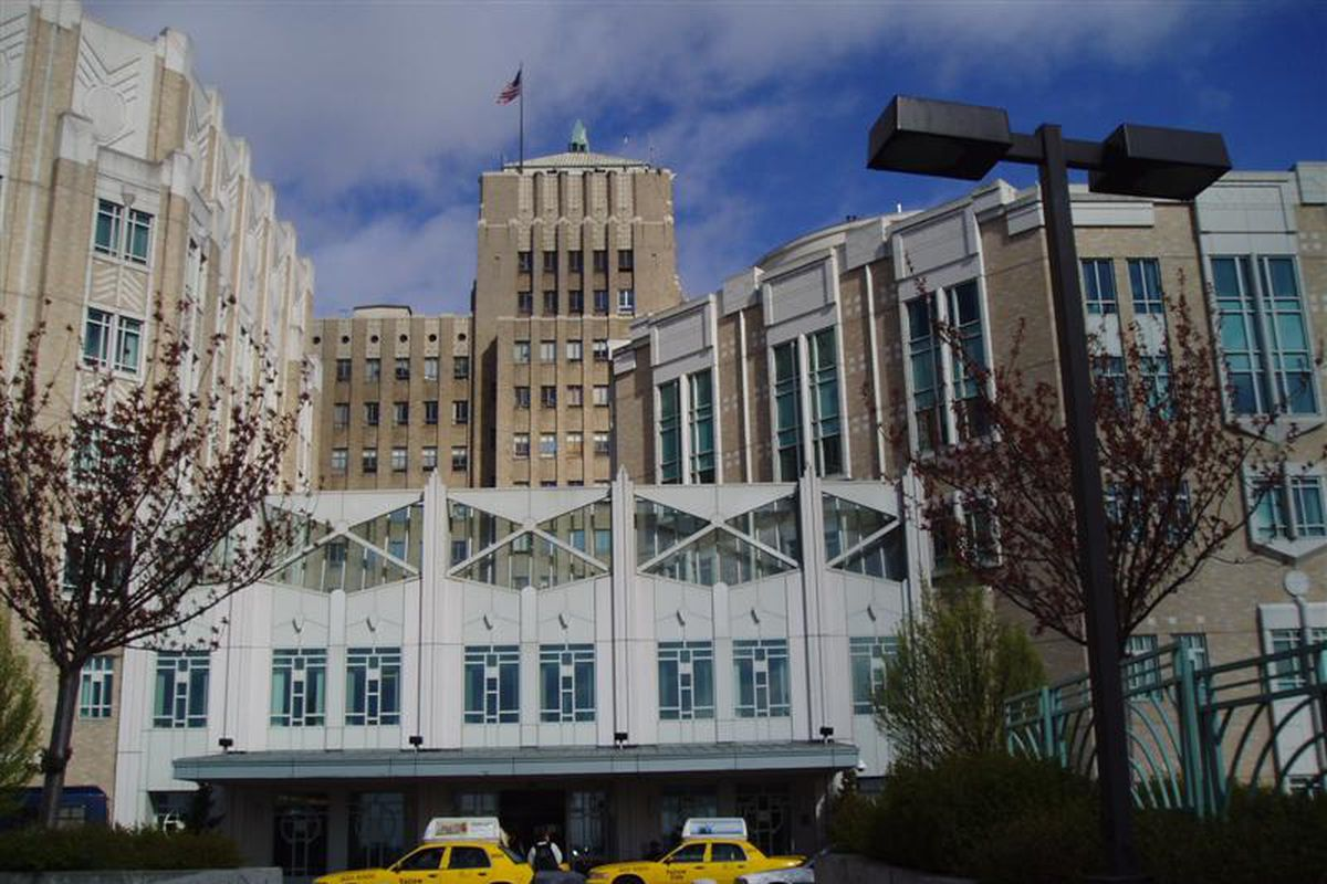 An amateur MMA fighter died of kidney failure at Harborview Medical Center (pictured) in Washington state