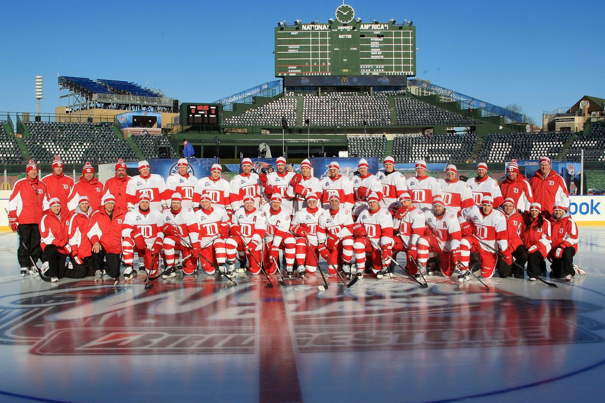 Detroit Red Wings Practice at Wrigley Field