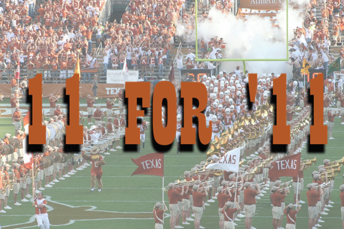 11 for '11 Texas Longhorns Football Graphic