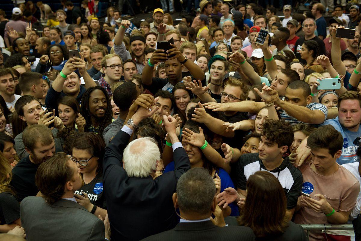 Bernie Sanders rally.
