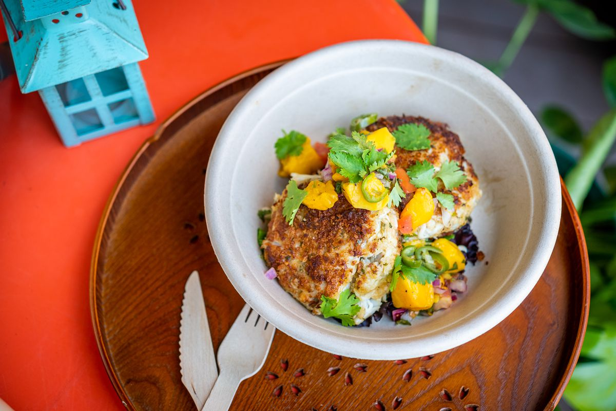 Caribbean crab cakes from Hook Hall