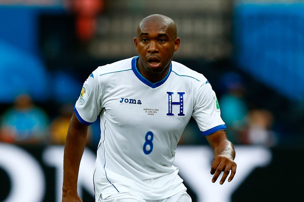 Palacios in action in the 2014 World Cup in Brazil