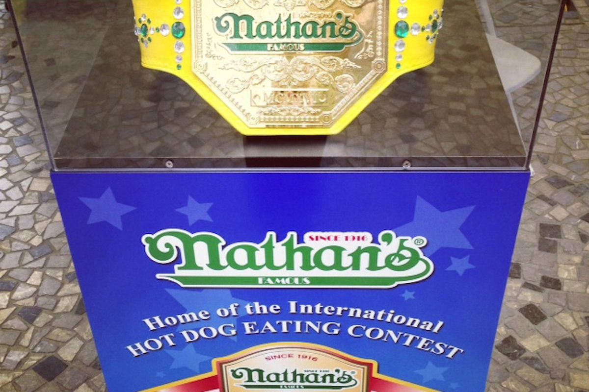 The Nathan's Famous Hot Dog Eating championship belt