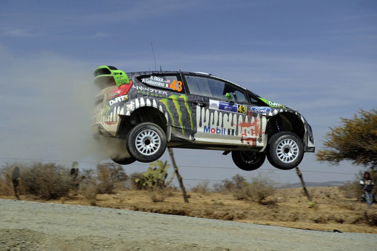 The Fiesta Bowl should totally move to Mexico. Look at this photo from a rally car race in Mexico! THEY DON'T EVEN HAVE GRAVITY THERE (or pesky corruption laws.) (Photo by Massimo Bettiol/Getty Images)