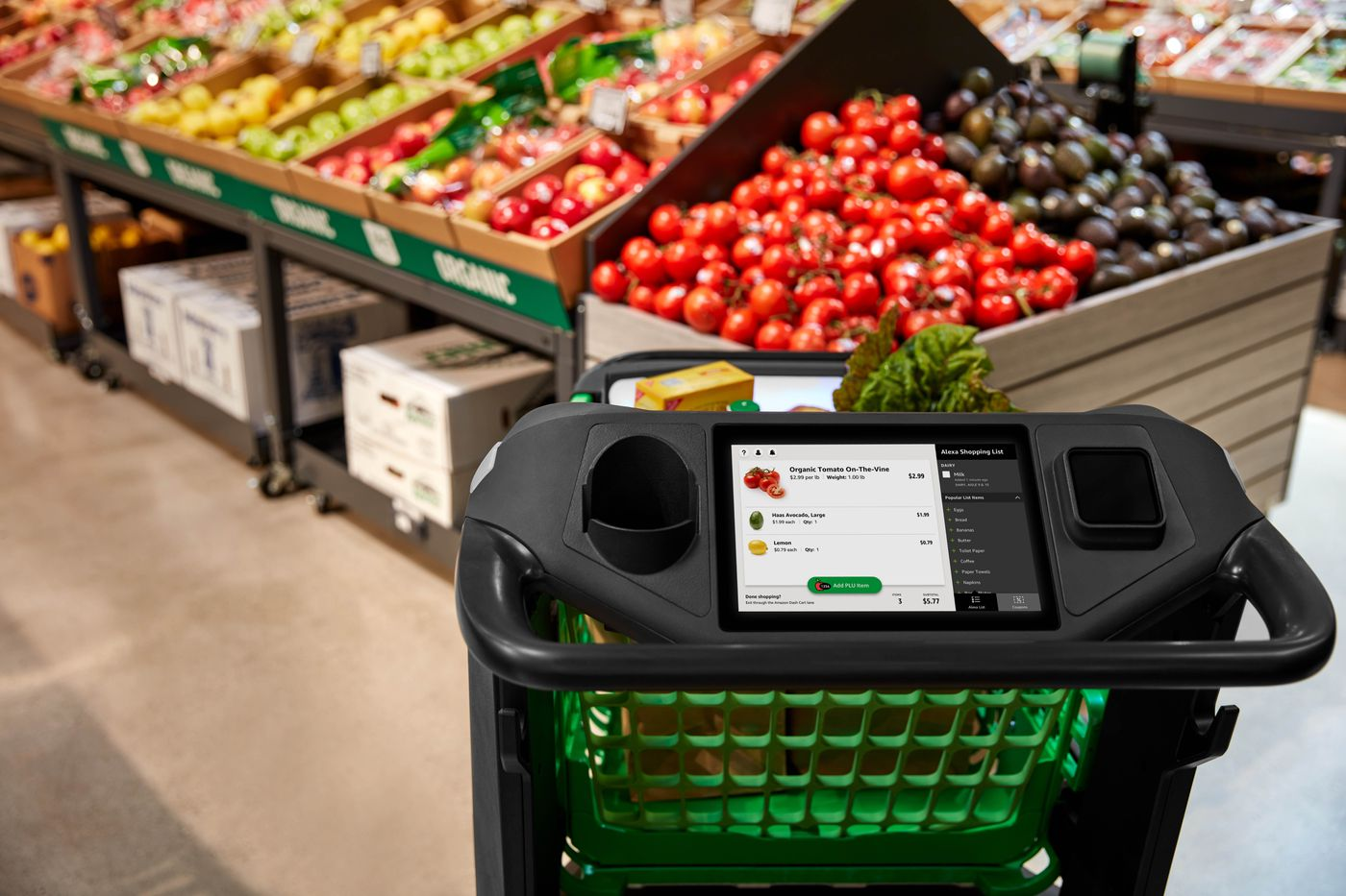 Amazon S New Smart Shopping Cart Lets You Check Out Without A Cashier The Verge