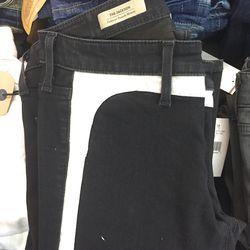 Tuxedo skinny jeans, $99 (were $235)