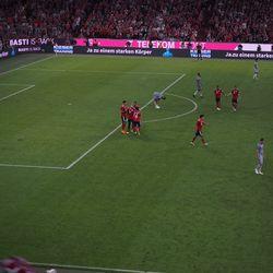 Bayern celebrate's Sandro Wagner's 2-0 goal.