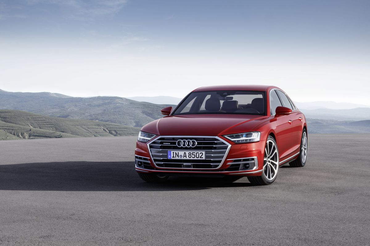 the new audi a8 luxury sedan is a high tech beast that can drive