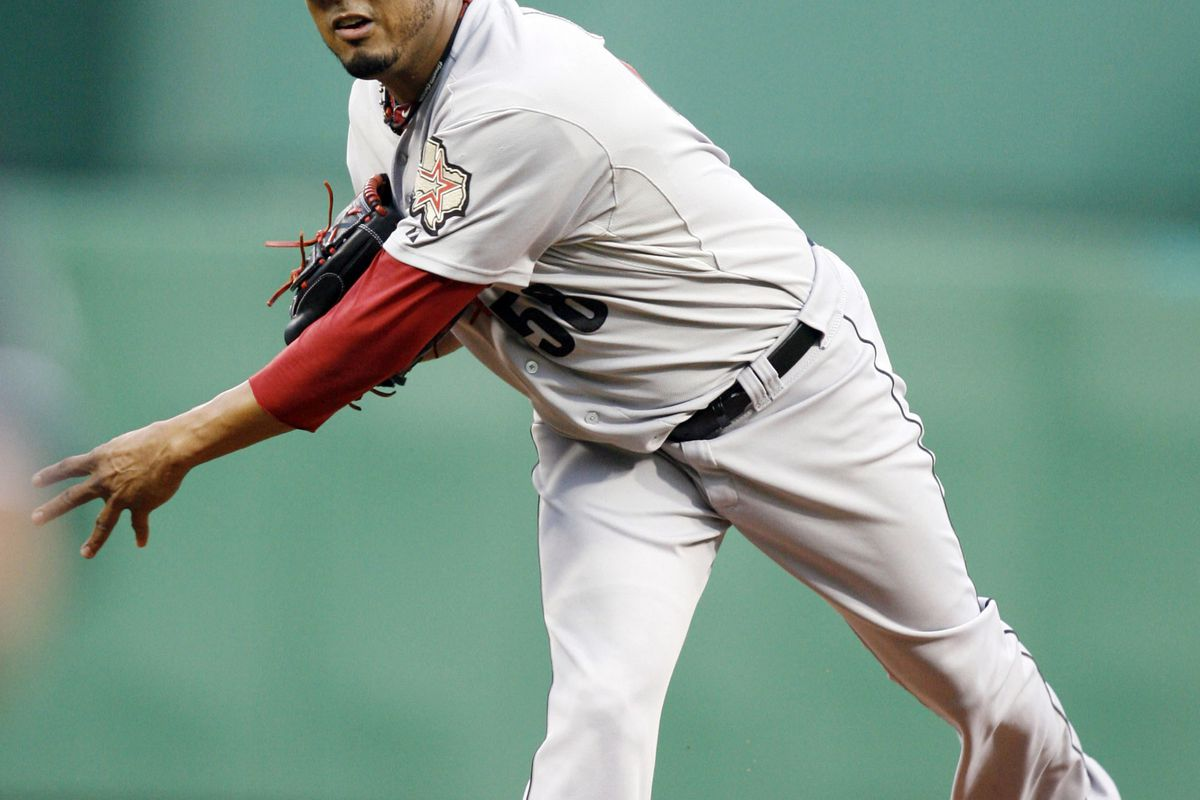 September 5, 2012; Pittsburgh, PA, USA; Houston Astros starting pitcher Fernando Abad (58) delivers a pitch against the Pittsburgh Pirates during the first inning at PNC Park. Mandatory Credit: Charles LeClaire-US PRESSWIRE