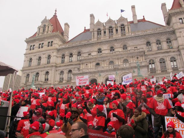 """The """"Don't Steal Possible"""" rally was attended by thousands ofpeople – most were Success Academy charter school students and parents – according to advocacy group Families for Excellent Schools, the event's organizer."""
