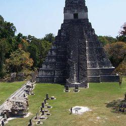 An ancient Maya pyramid at Tikal, Guatemala