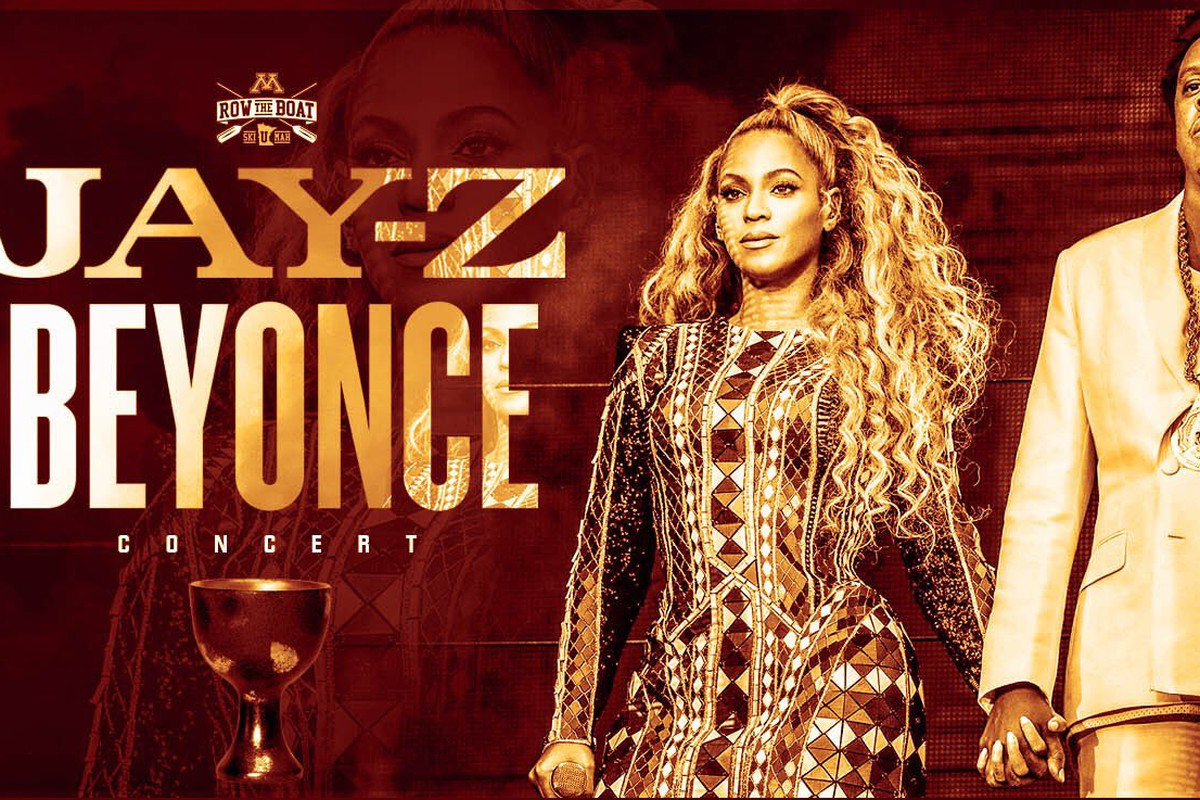 Marketing graphic for Beyonce and Jay-Z concert