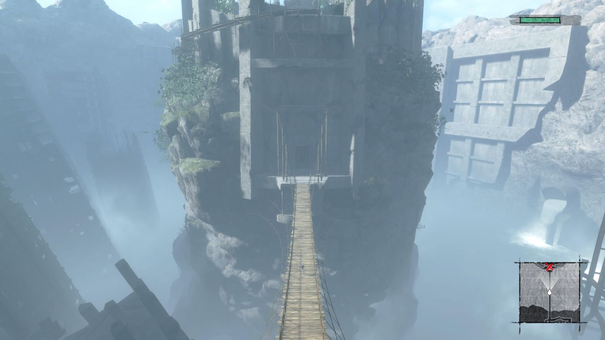 A bride takes our heroes to a destroyed city in Nier Replicant.