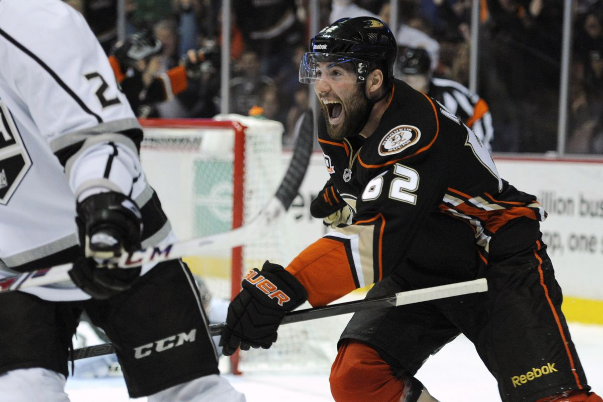 Pat Maroon and the Ducks had a lot to celebrate against LA this season.