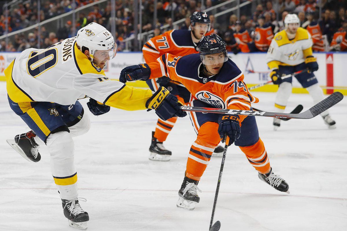 NHL: Nashville Predators at Edmonton Oilers