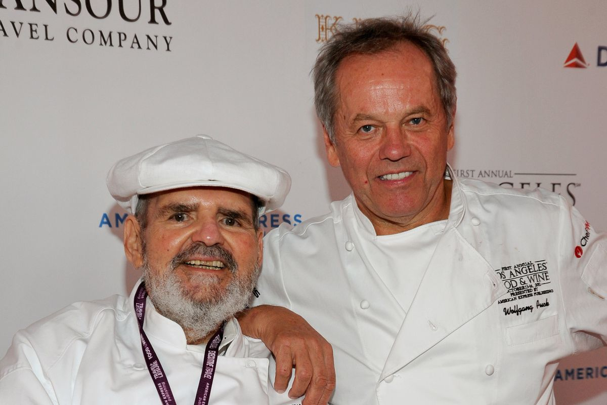 Paul Prudhomme with Wolfgang Puck in 2011