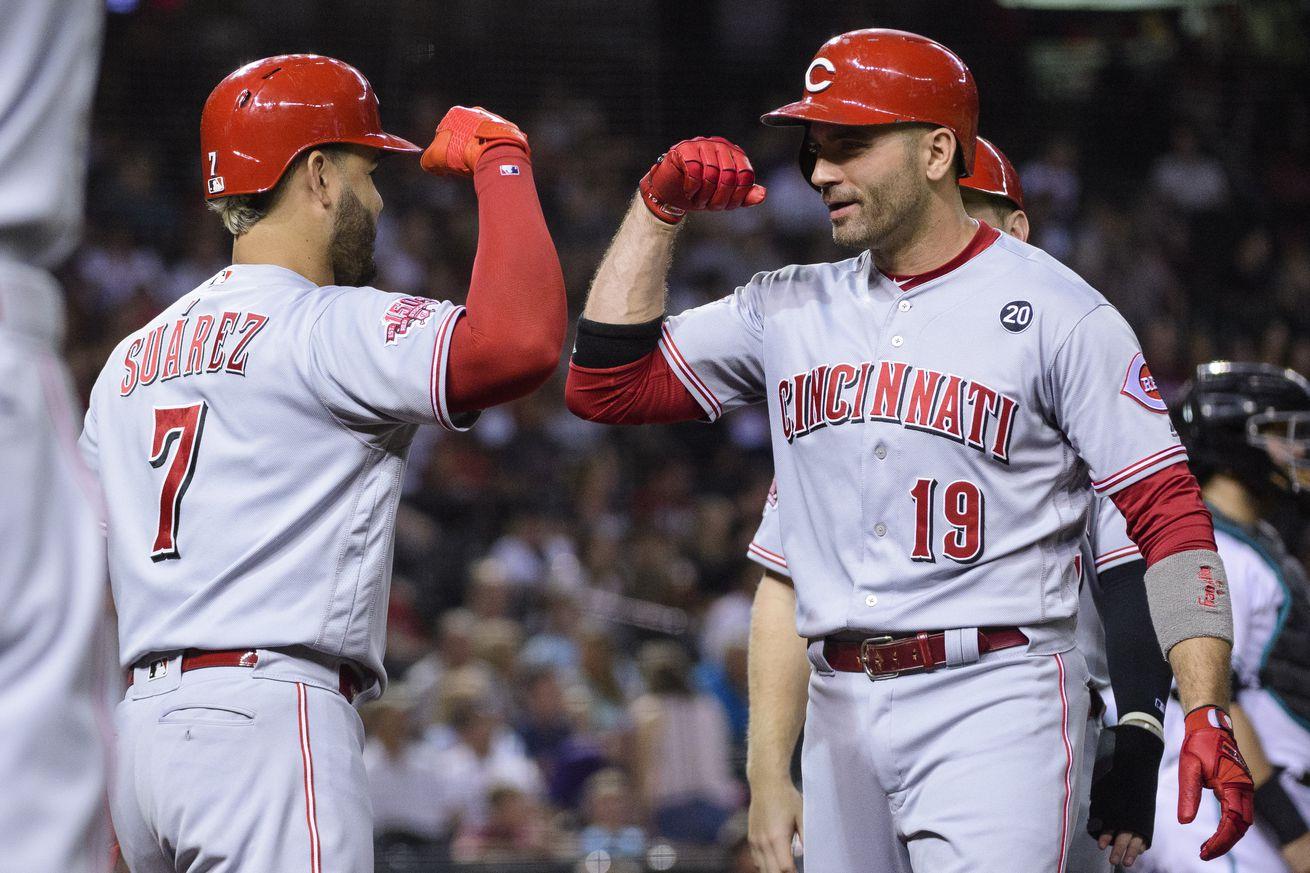 Joey Votto, Josh VanMeter homer to lead Reds past Diamondbacks 4-3