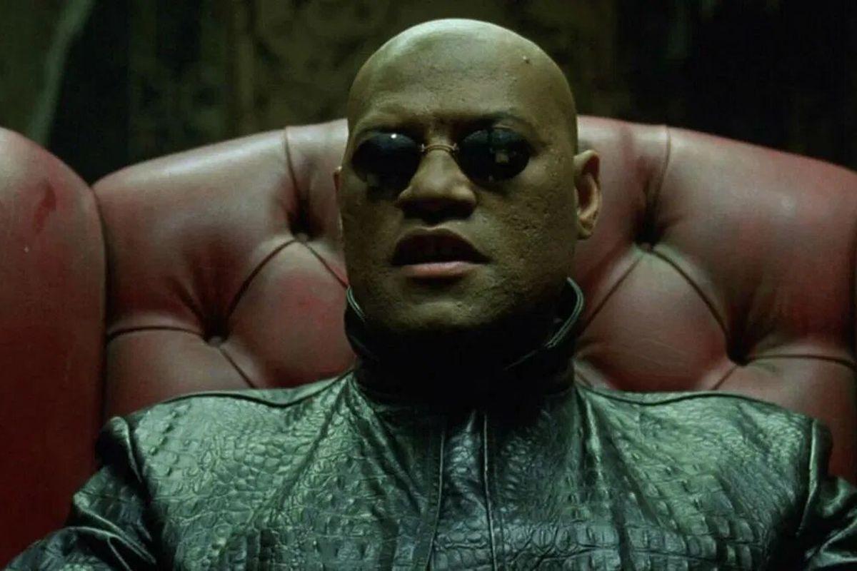 Laurence Fishburne as Morpheus in The Matrix Reloaded