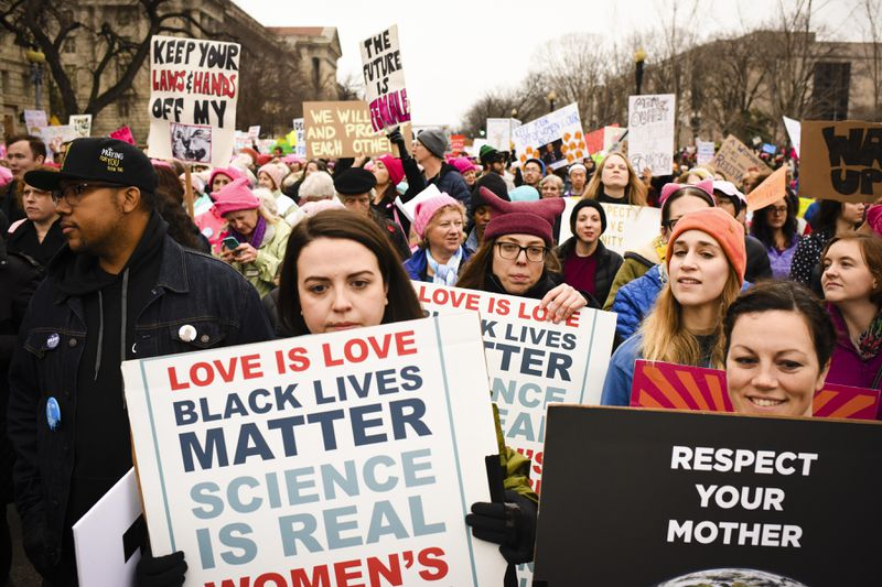 Women's March in Washington, DC on  Saturday January 21, 2017.