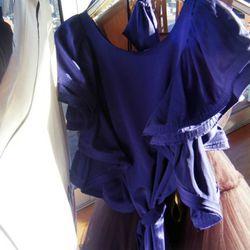 Ruffle dress, $199