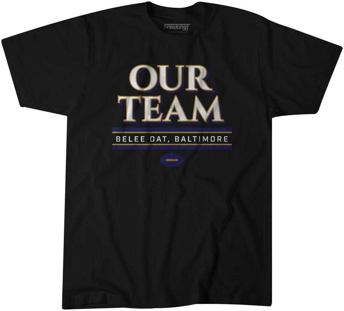 Baltimore Ravens christmas gifts lamar jackson our team - Baltimore