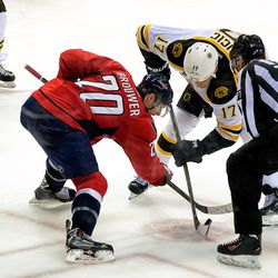Brouwer and Lucic Faceoff