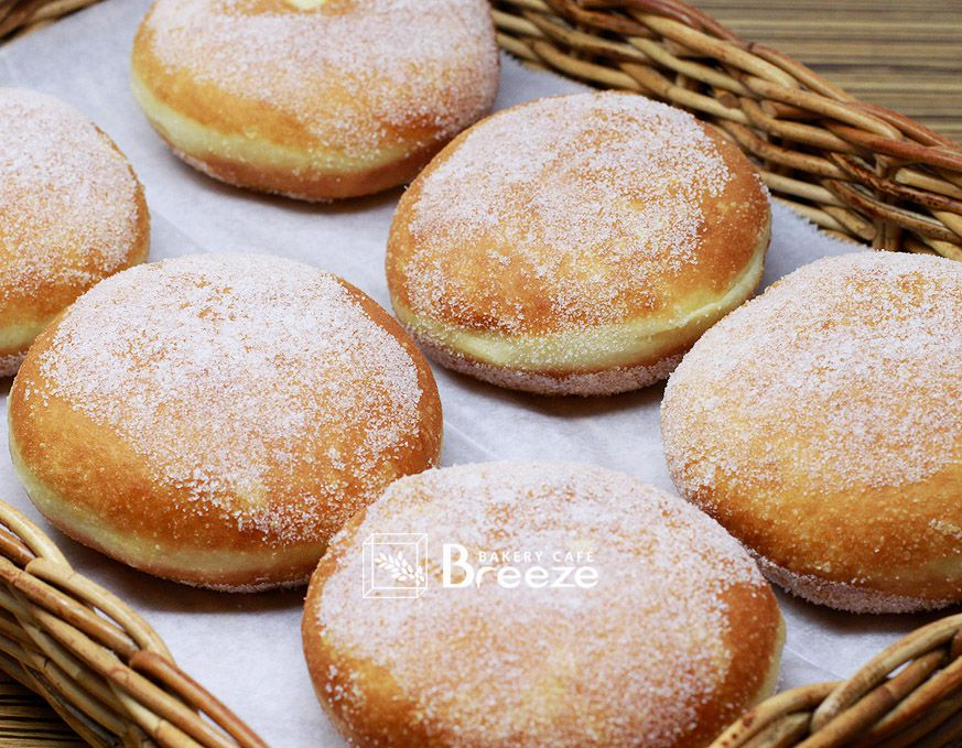 Sweet rice doughnuts with red bean filling from Breeze Bakery in Annandale