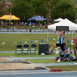 Fremont High's Logan Tittle competes in the long at the BYU Invitational.