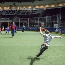 After games, kids have access to the field, whether to kick a ball around with their parents or just have fun playing tag