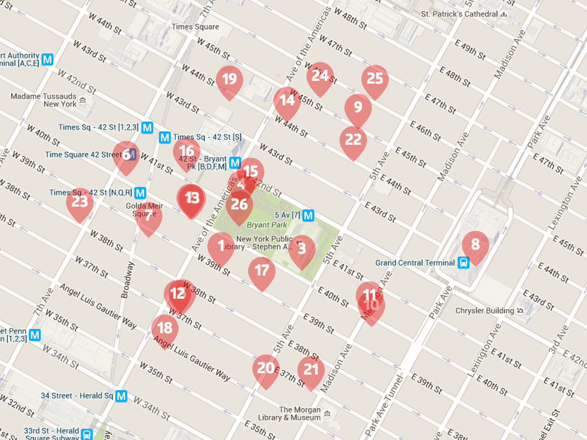 Eater Heat Map The Vox Midtown Heatmap: Where to Eat Lunch Near the Office Eater Heat Map