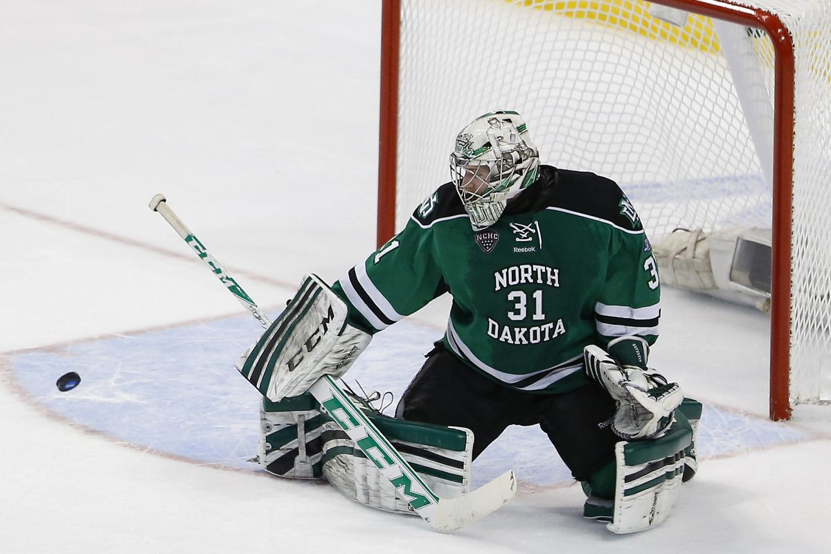 North Dakota goaltender Zane McIntyre